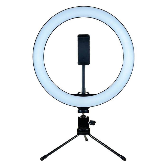 MAMEN 慢門 10吋 USB桌上型LED補光燈 (公司貨) 附360度雲台+軟管夾