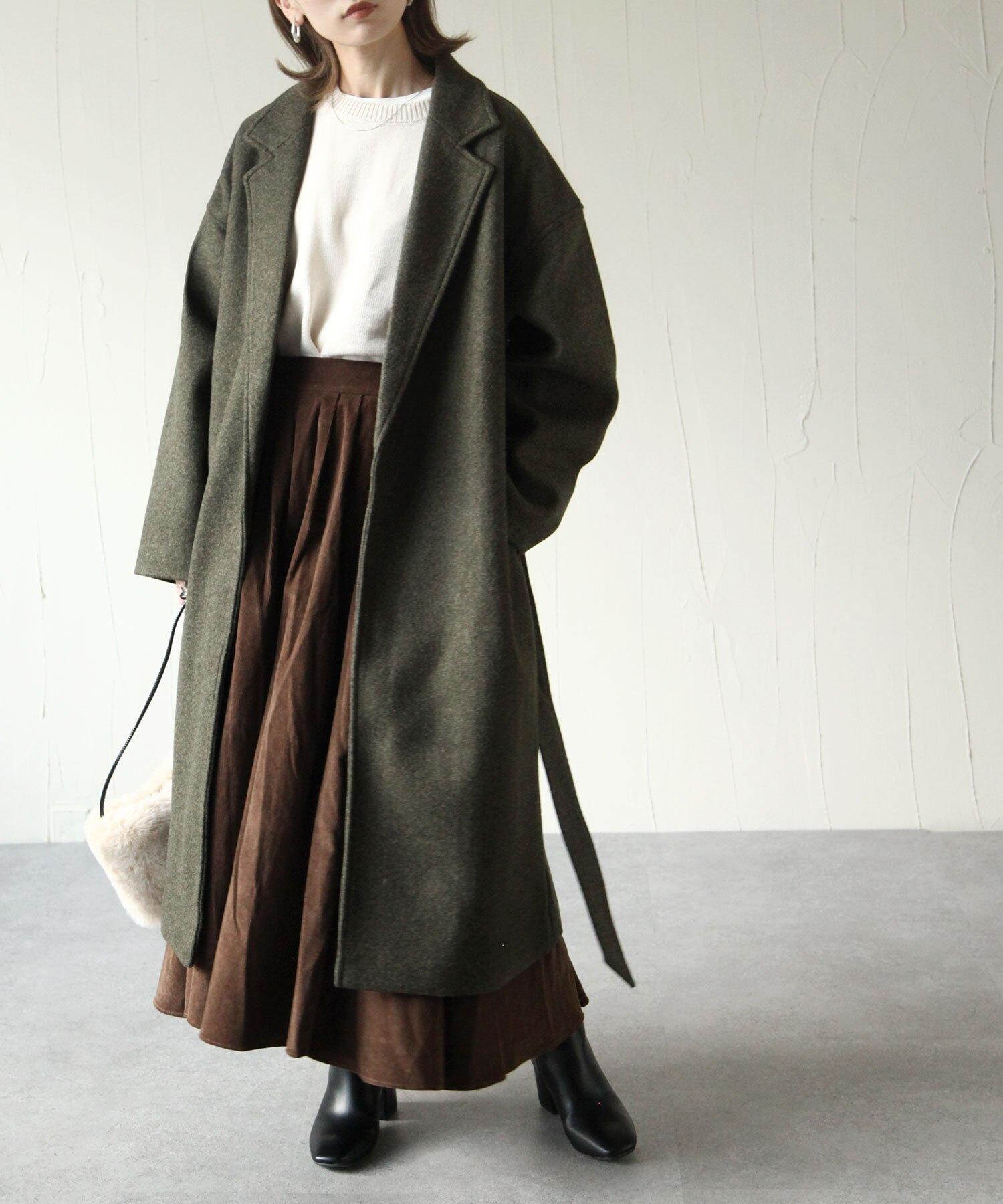 【現貨】【Chillfar】仿羊毛長大衣  中大碼可穿