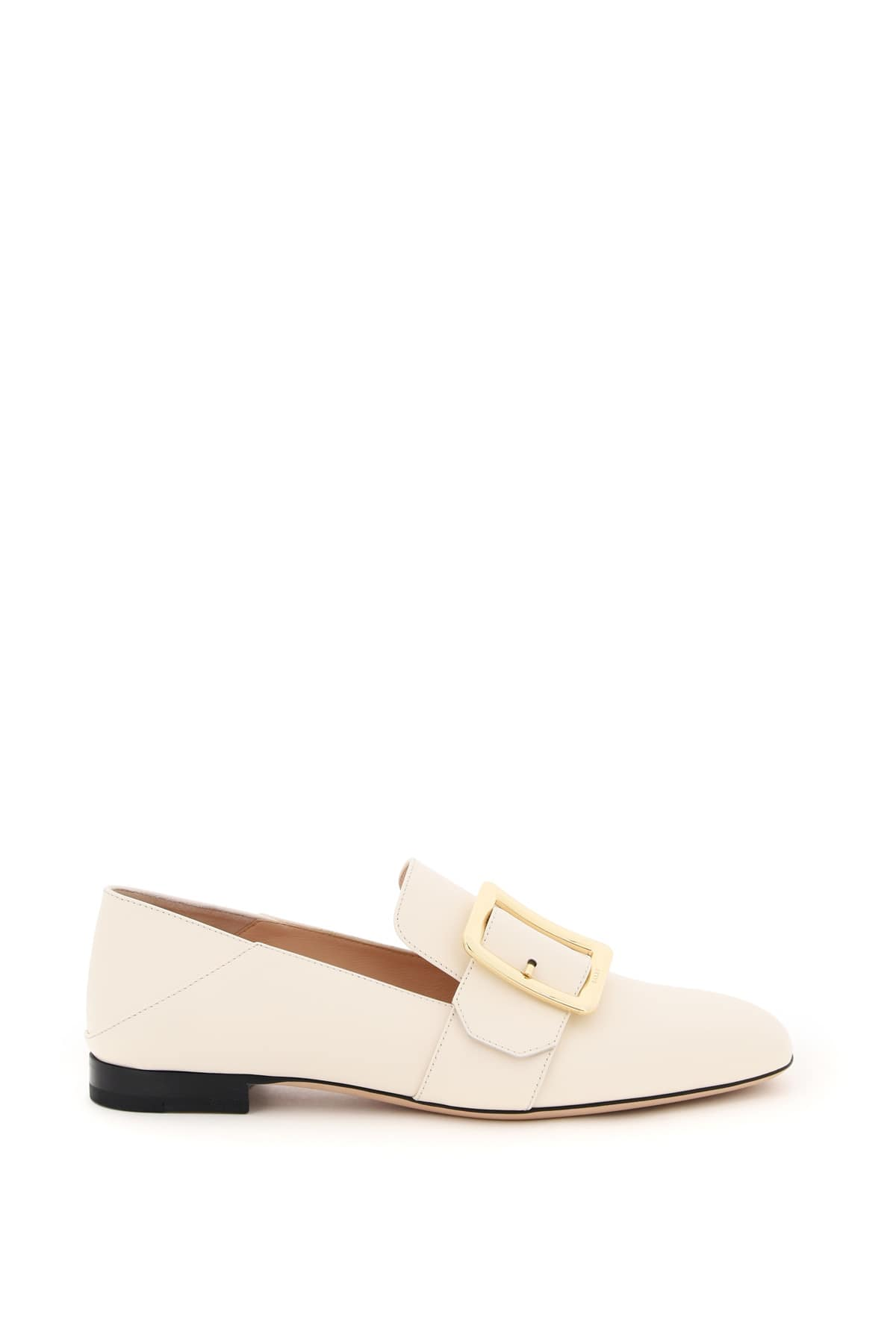 BALLY JANELLE LEATHER LOAFERS 35 White Leather