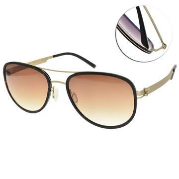VYCOZ太陽眼鏡 雙槓飛行款(霧金-漸層棕鏡片) #EVOK GOL-H