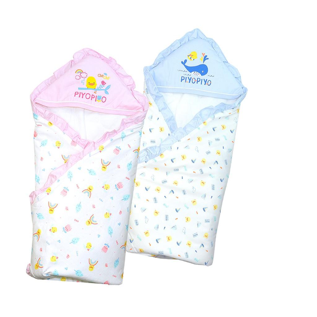Piyo Piyo 黃色小鴨荷葉四季包巾 柔軟保暖 猶如媽媽溫暖懷抱 娃娃購 婦嬰用品專賣店