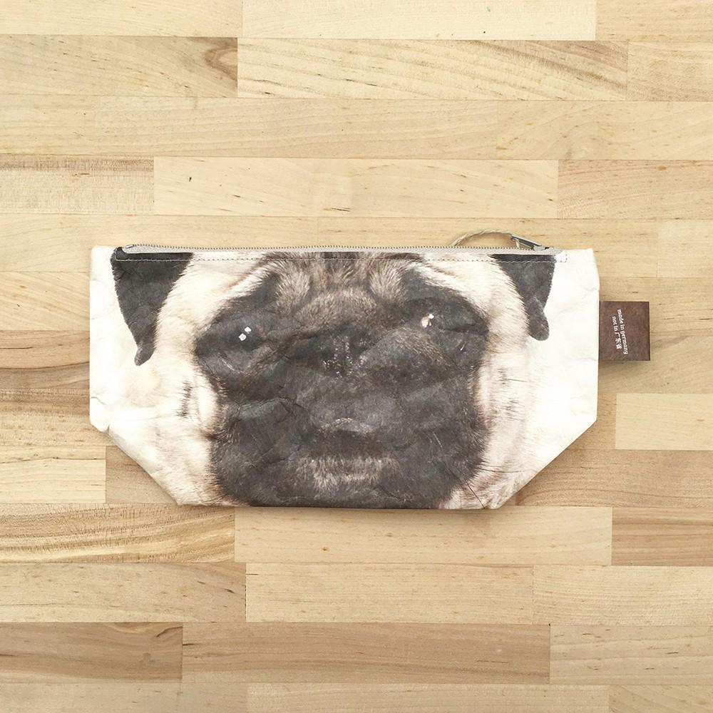 Paprcuts.de 化妝包-動物風(巴哥犬)