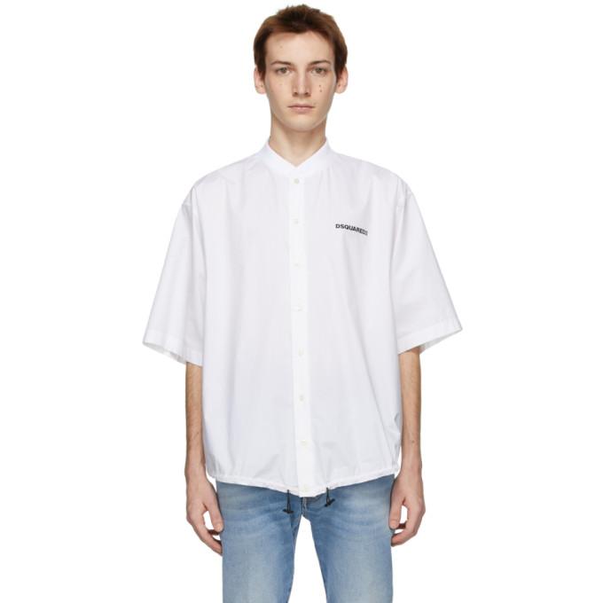 Dsquared2 白色 Mini Logo 短袖衬衫
