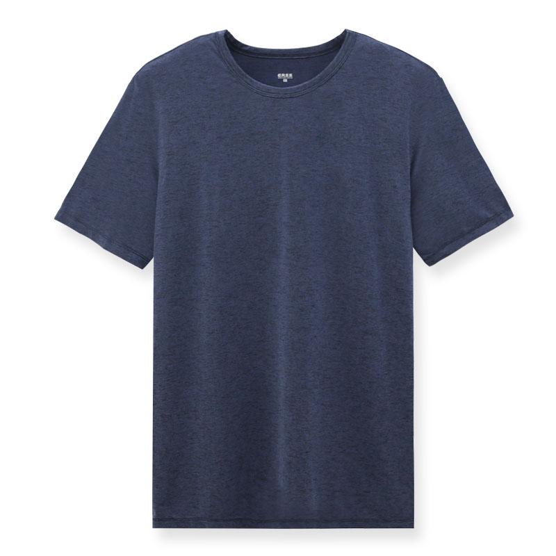 輕。涼感素色T恤(丈青)-男