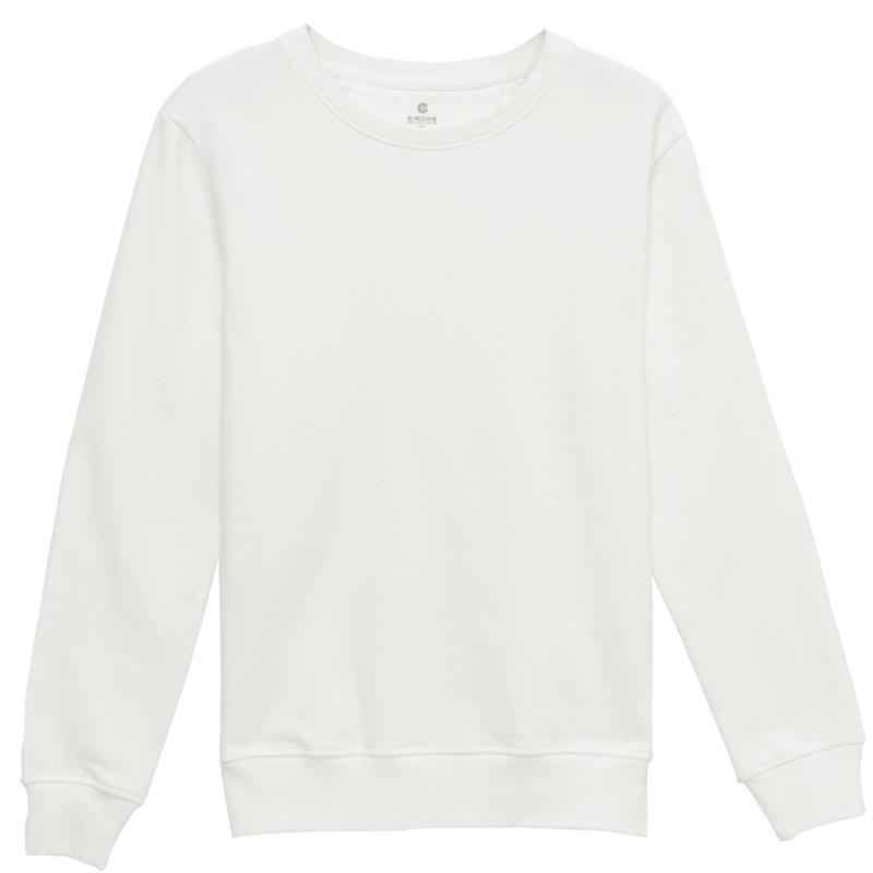 素色圓領休閒絨T(白色)-男