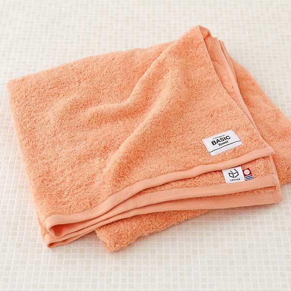 今治基本型毛巾浴巾杏橙 65×130cm P241888