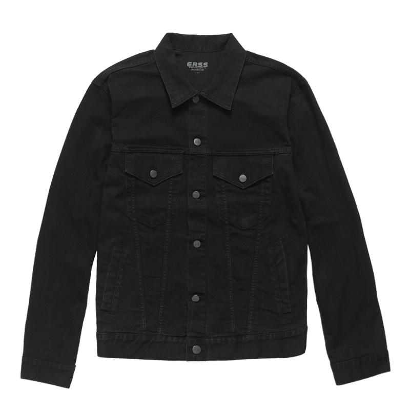 經典中性牛仔夾克(黑色)-中性