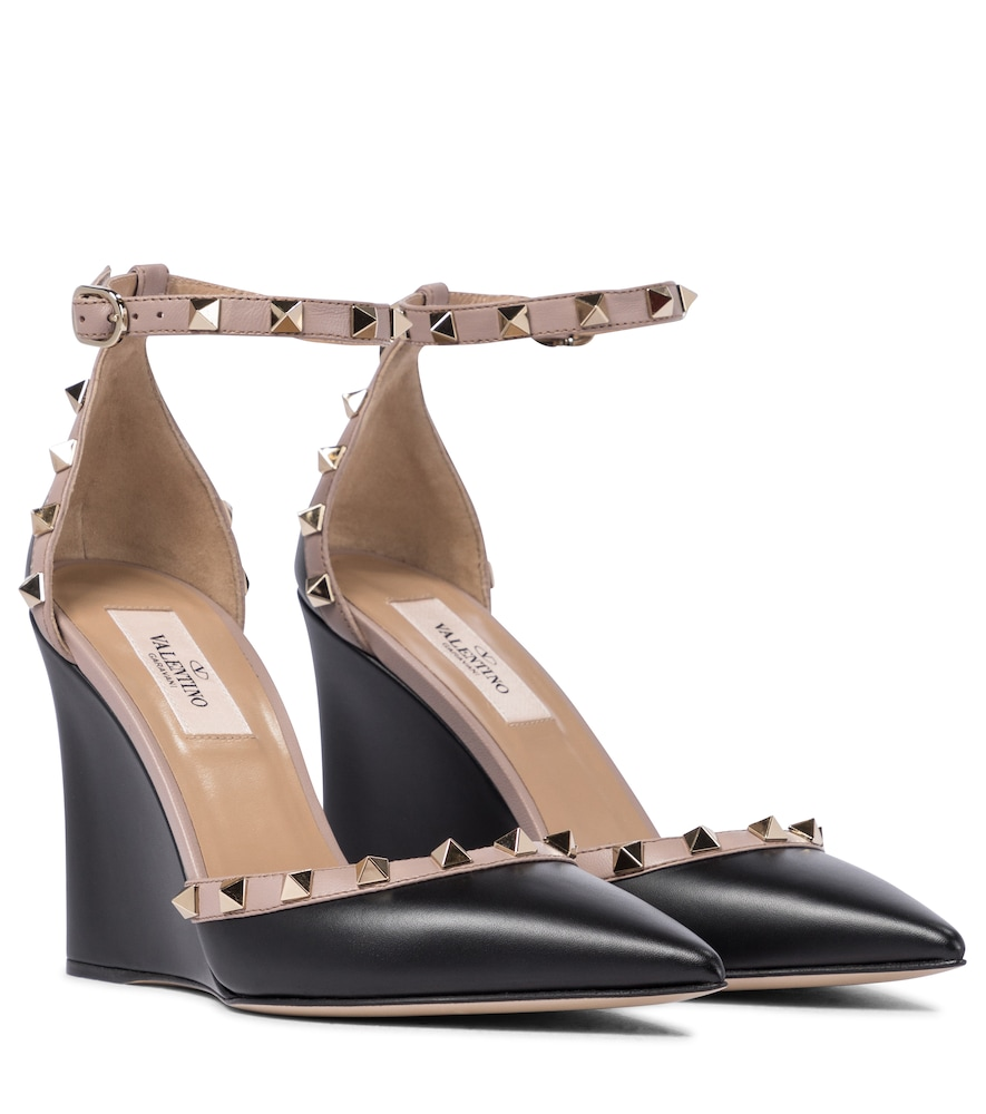 Valentino Garavani Rockstud leather wedges