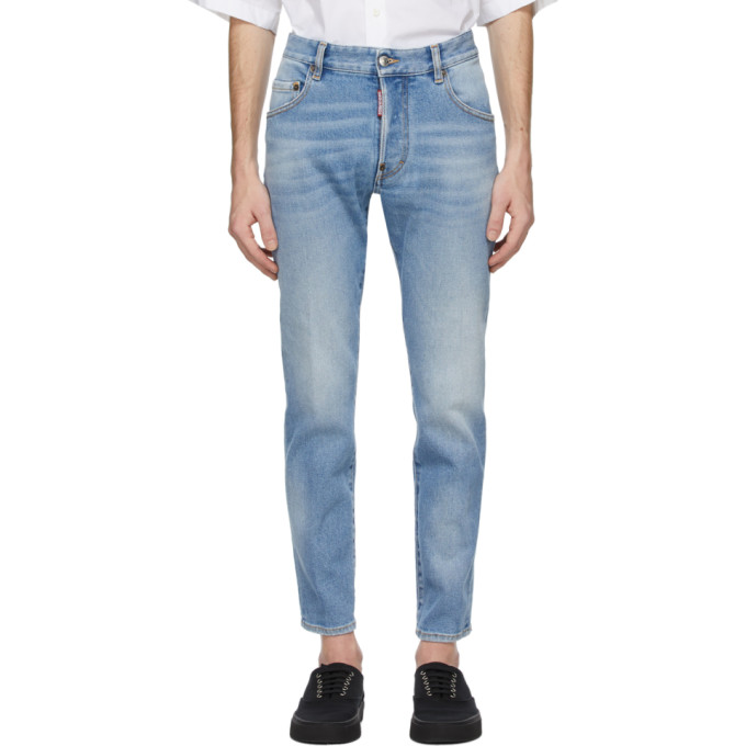 Dsquared2 蓝色 Skater 牛仔裤