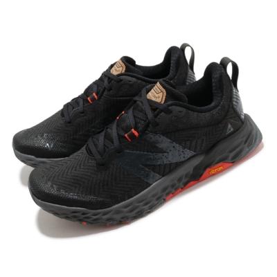 New Balance 慢跑鞋 Fresh Foam Hierro 寬楦男鞋 紐巴倫 輕量透氣 舒適避震 運動 健身 黑 紅 MTHIERK62E