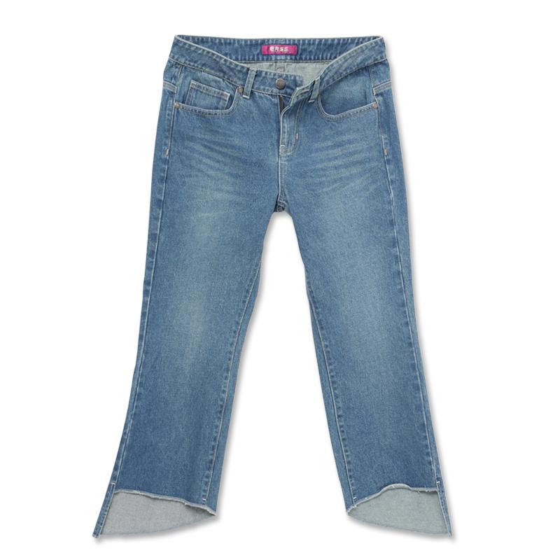 微喇叭褲(中古藍)-女