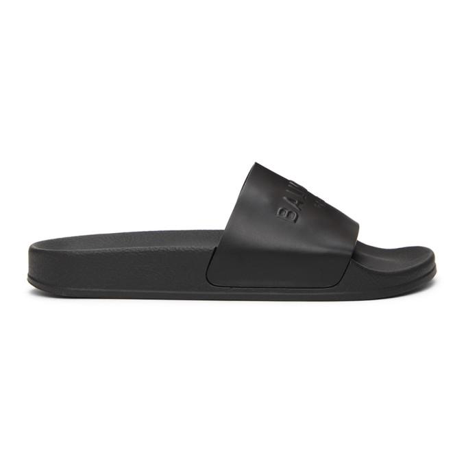 Balmain 黑色 Calypso 拖鞋