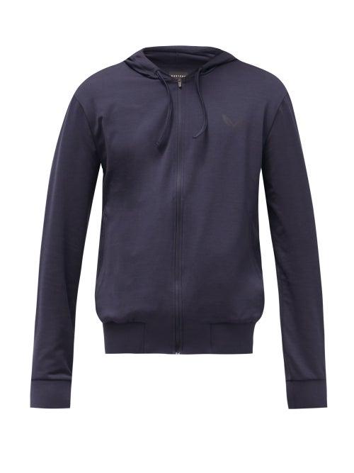 Castore - Logo-print Technical-jersey Hooded Sweatshirt - Mens - Navy