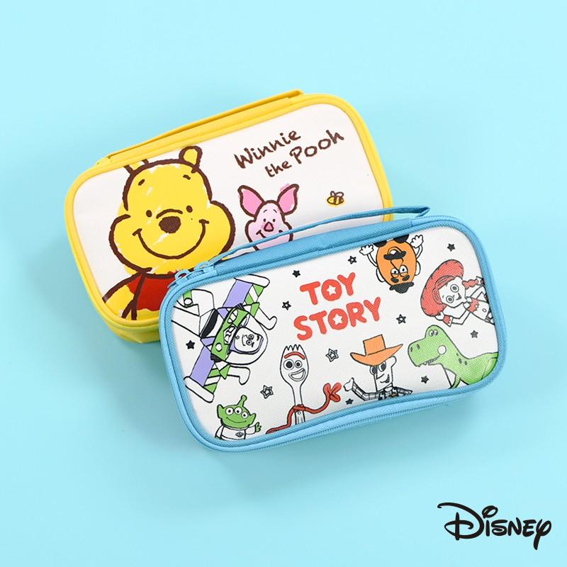 迪士尼 文具旗艦店|手提筆袋鉛筆盒 維尼 小豬 玩具總動員 帆布 筆袋 文具 收納 萬用包 NP084