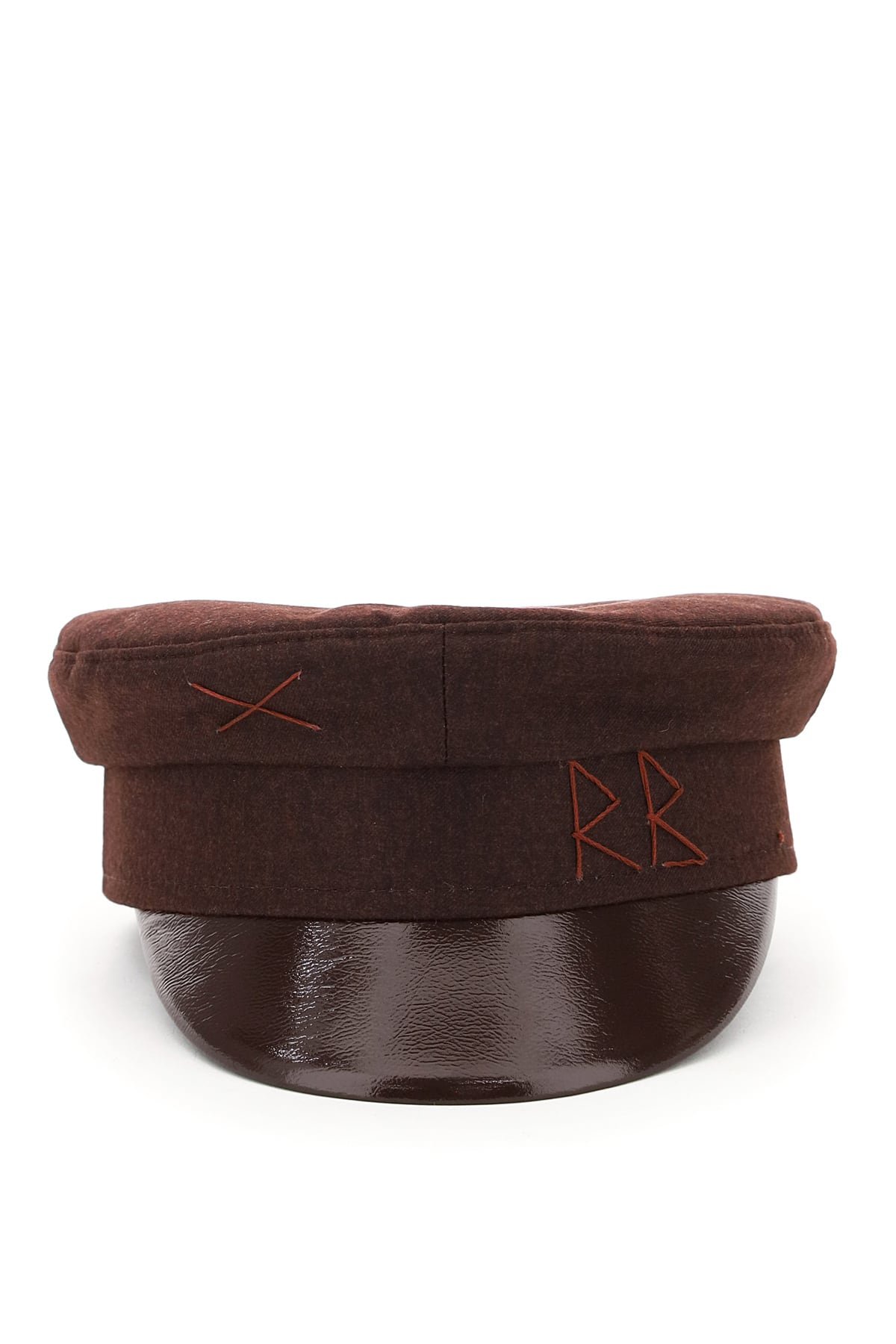 RUSLAN BAGINSKIY BAKER BOY HAT RB EMBROIDERY M Brown