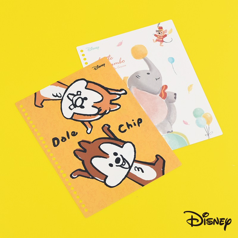Disney 迪士尼|PP封面隔板-26孔【NP098】小飛象 奇蒂 孔夾封面板 檔案夾封面板 DIY封面板|文具旗艦店