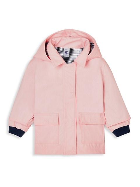 Baby Girl's Hooded Rain Jacket