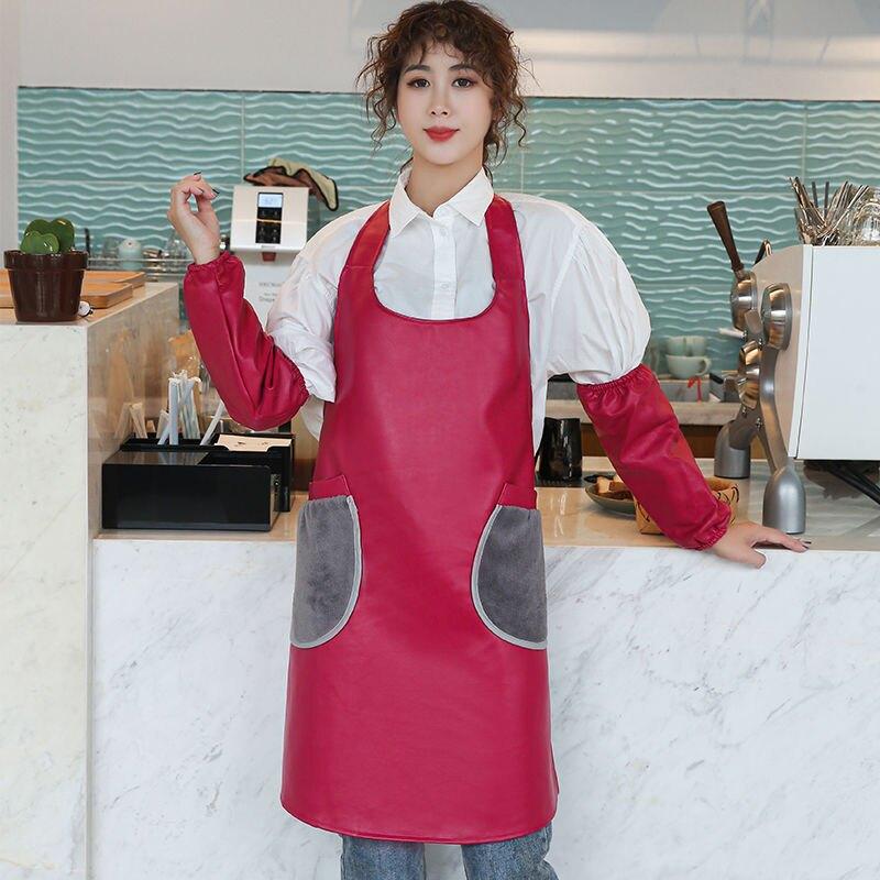 圍裙家用廚房女時尚可擦手防水防油罩衣日系