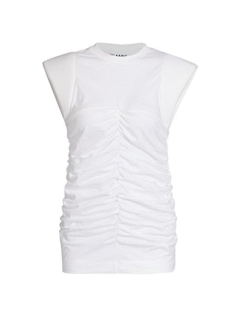 Basic Cotton Jersey Cap-Sleeve Top