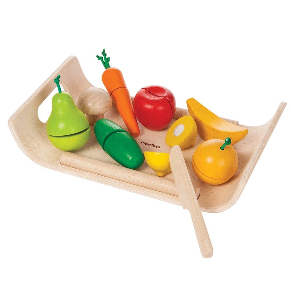 《  PLAN TOYS 》木製  小主廚-切切蔬果托盤 東喬精品百貨
