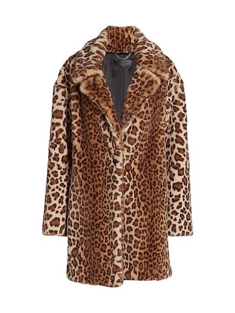 Emma Leopard-Print Faux Fur Coat