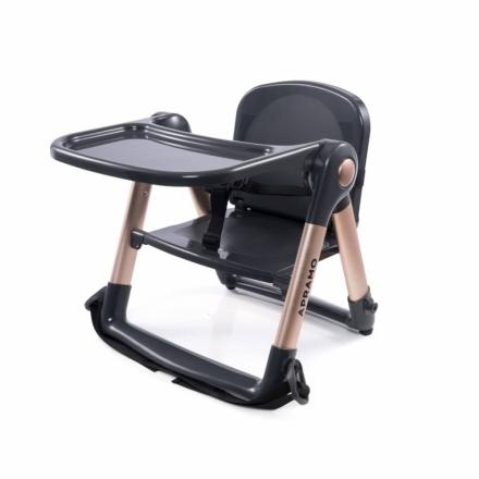 【限定典藏款-魔法金】英國Apramo Flippa QTI摺疊式 可攜式 兩用兒童餐椅(贈提袋+椅墊+防吊帶)