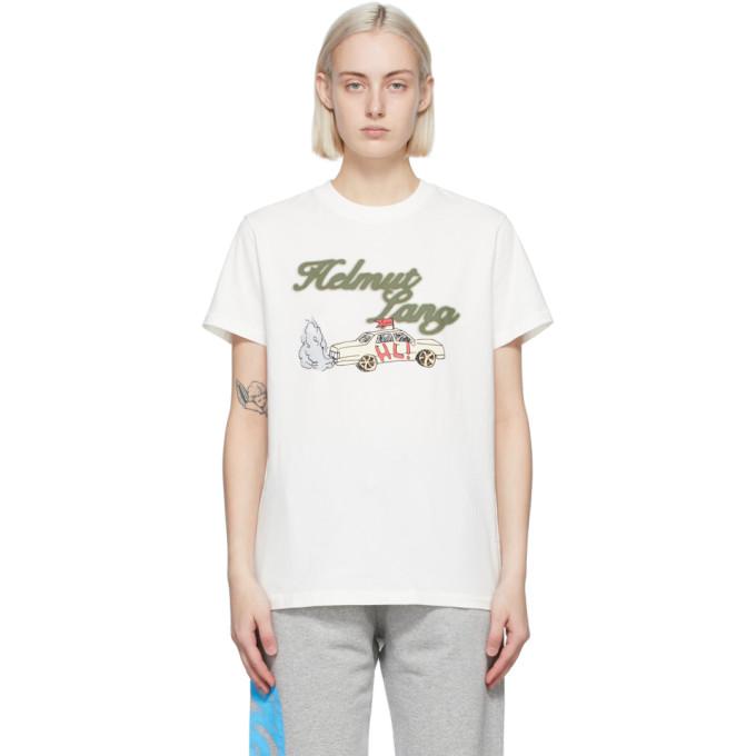 Helmut Lang 灰白色 Saintwoods 联名 HL Taxi T 恤
