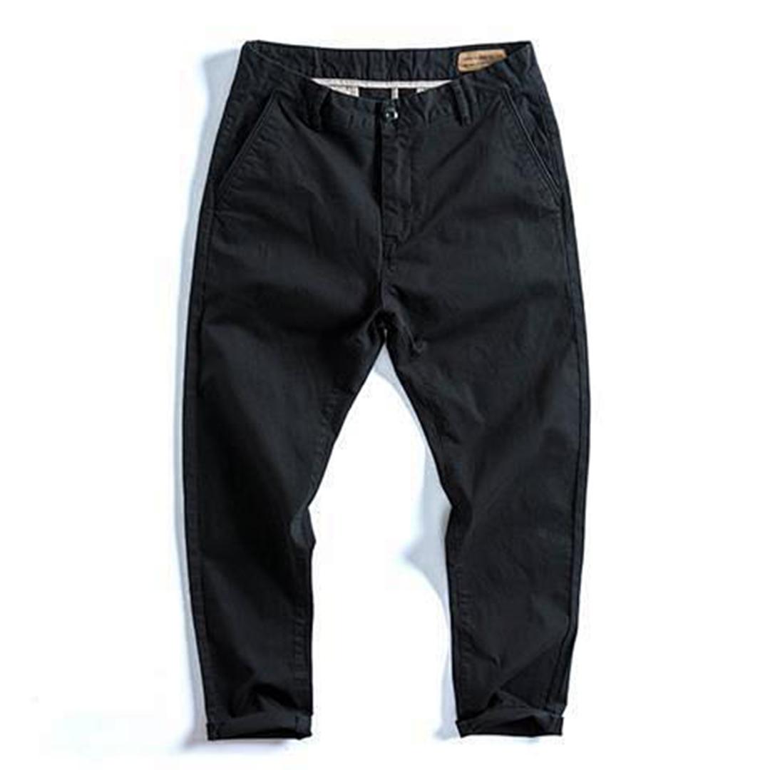 純棉彈力水洗寬鬆潮流西褲
