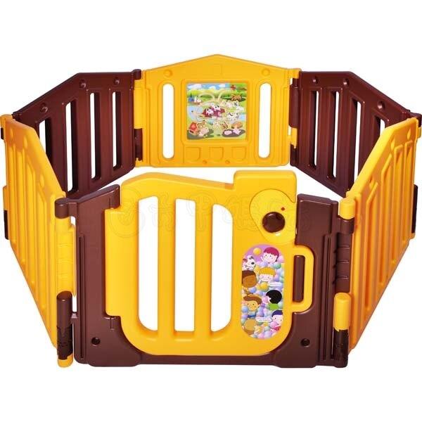 親親遊戲圍欄PY-06 安全鎖 (咖啡+橘)  安全圍欄/遊戲圍欄/兒童圍欄/護欄柵欄