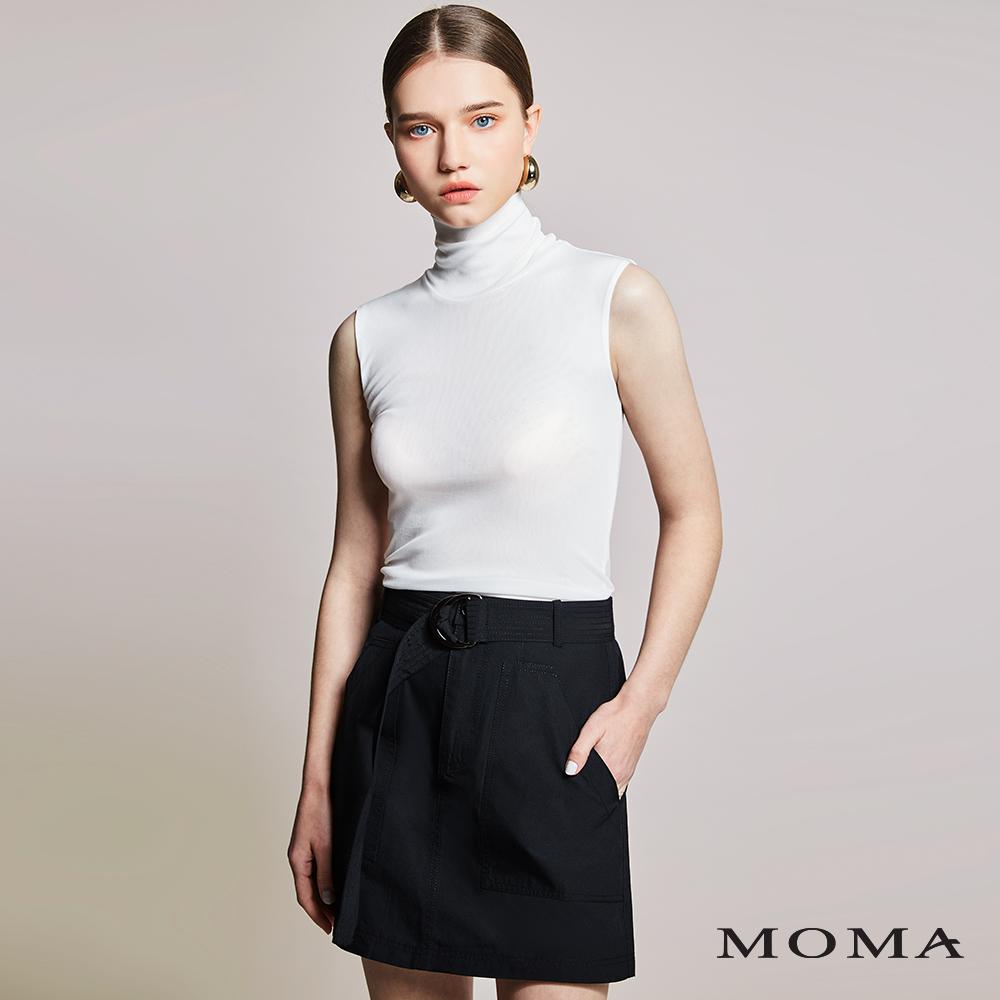 MOMA(01S012)前後口袋單色短裙