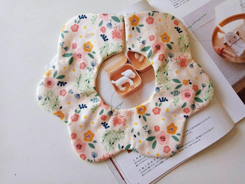 轉轉花兜 韓國棉布 小花兒 360度花瓣圍兜  嬰兒圍兜