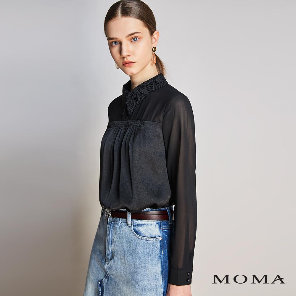 MOMA(01G041)古典蕾絲領透視上衣