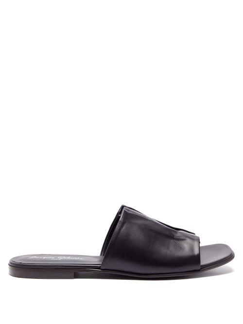 Jacques Soloviere - Riley Leather Sandals - Mens - Black