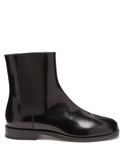Maison Margiela - Tabi Split-toe Leather Chelsea Boots - Womens - Black