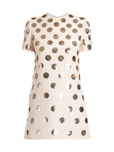 Patchy Dots Sequin Silk Dress