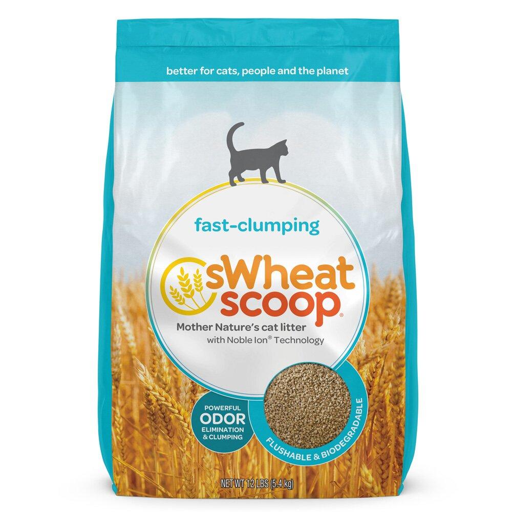 【買大送大】sWheat Scoop麥點| 藍標-淨味凝結小麥貓砂 36LB
