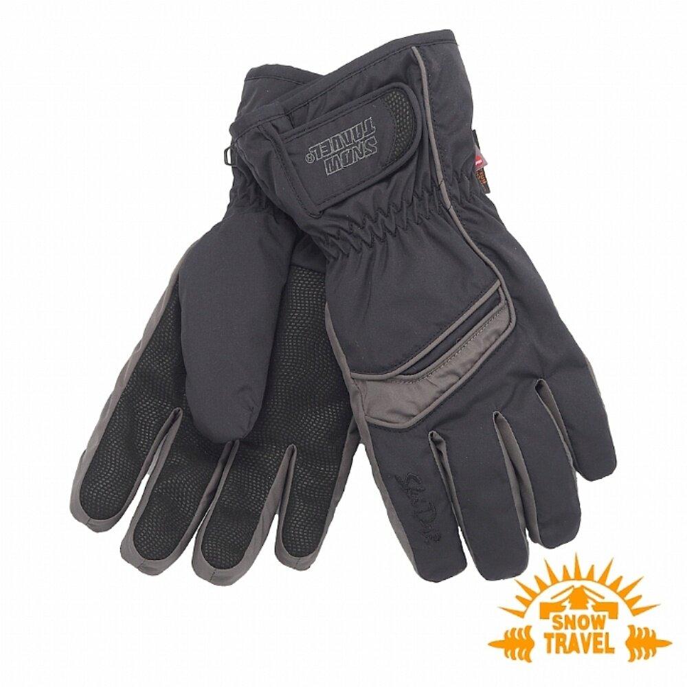 SNOWTRAVEL雪之旅 SKI-DRI防水透氣PRIMALOFT保暖手套 黑色