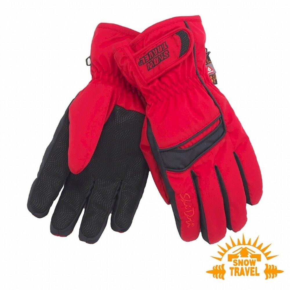 SNOWTRAVEL雪之旅 SKI-DRI防水透氣PRIMALOFT保暖手套 紅色