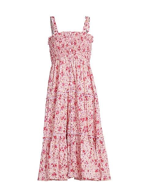 Triny Smocked Midi Dress