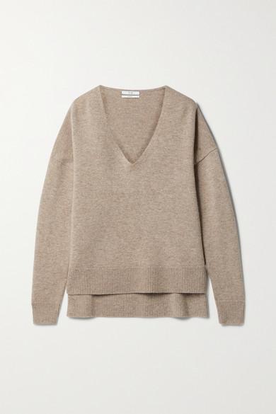 Co - 羊毛羊绒混纺毛衣 - 灰褐色 - medium