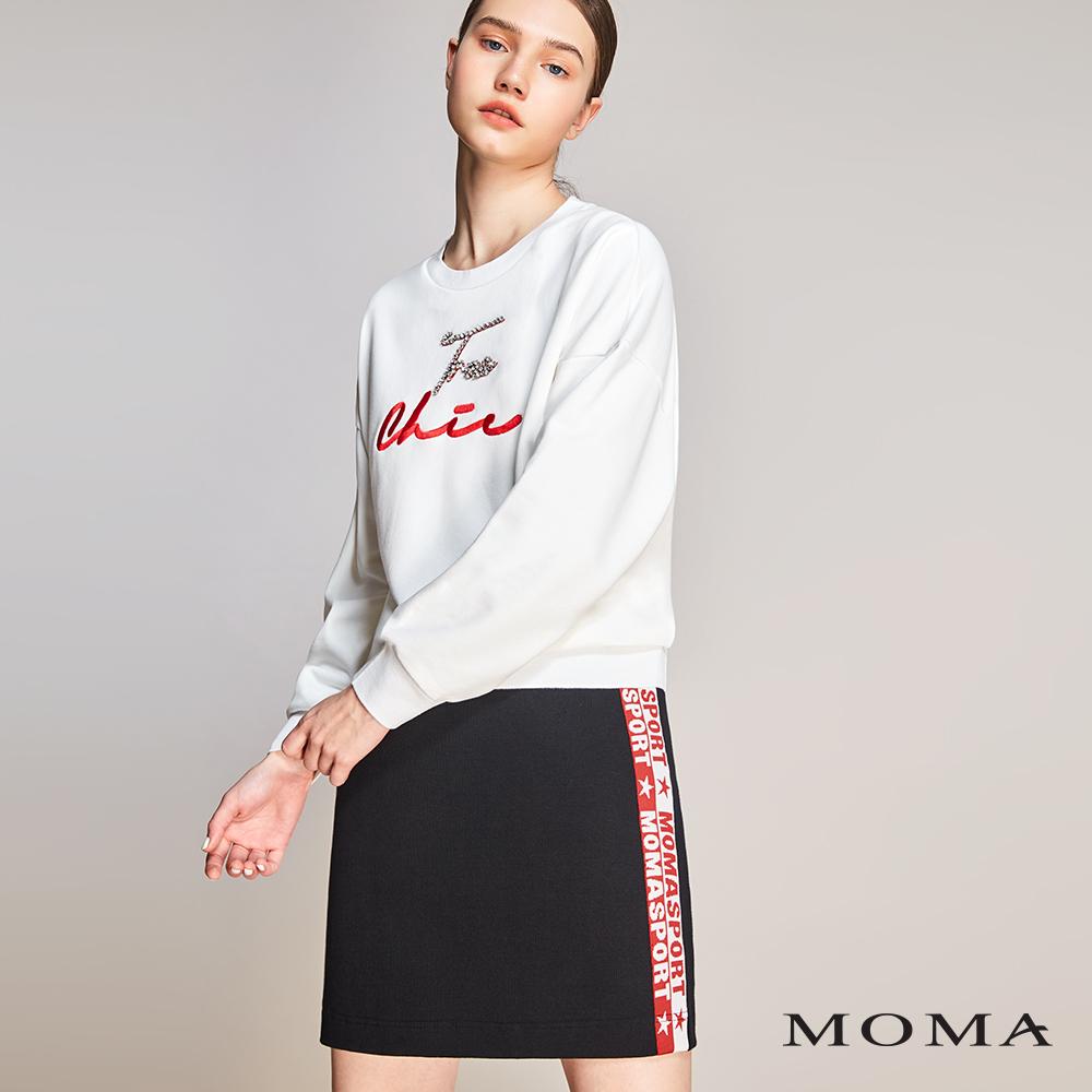 MOMA(01S008)織帶羅紋運動短裙