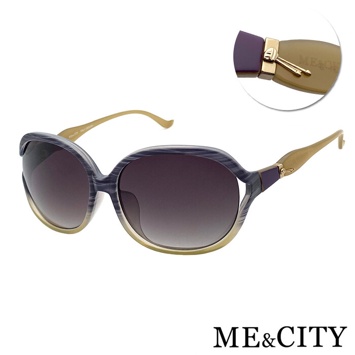 me&city 甜美別緻造型太陽眼鏡 抗uv400 (me 1210 c99)