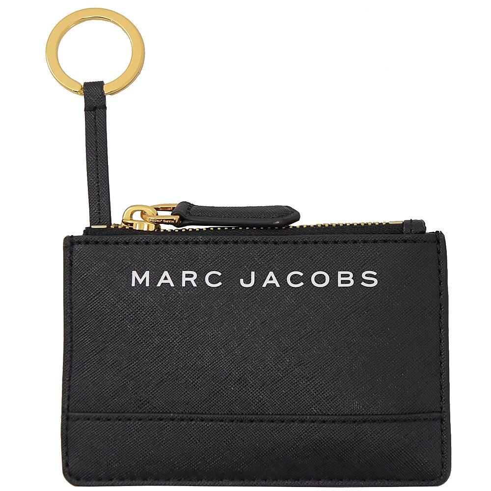 MARC JACOBS 馬克賈伯 專櫃商品 壓印LOGO證件鑰匙零錢包.黑