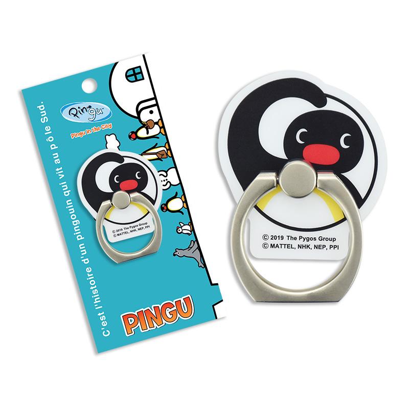 《企鵝家族 pingu》壓克力手機扣環立架A款-PINGU