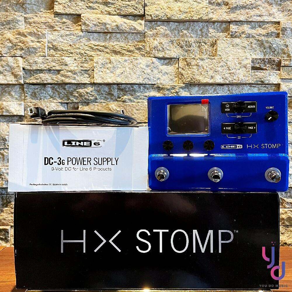 藍色限量版 line 6 hd stomp 綜合 效果器 電 木 吉他 貝斯 ir
