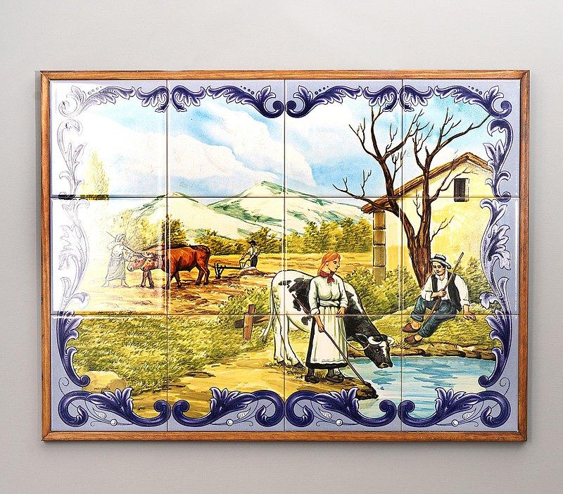 荷蘭農村瓷磚組合掛飾/代爾夫特藍職業系列/復古/掛飾/台夫特