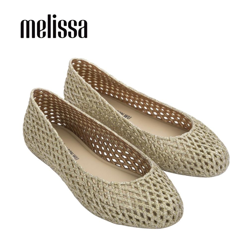 【Women】 Melissa x Jason Wu 氣質簍空平底娃娃鞋-金(MA50-32828 B0)