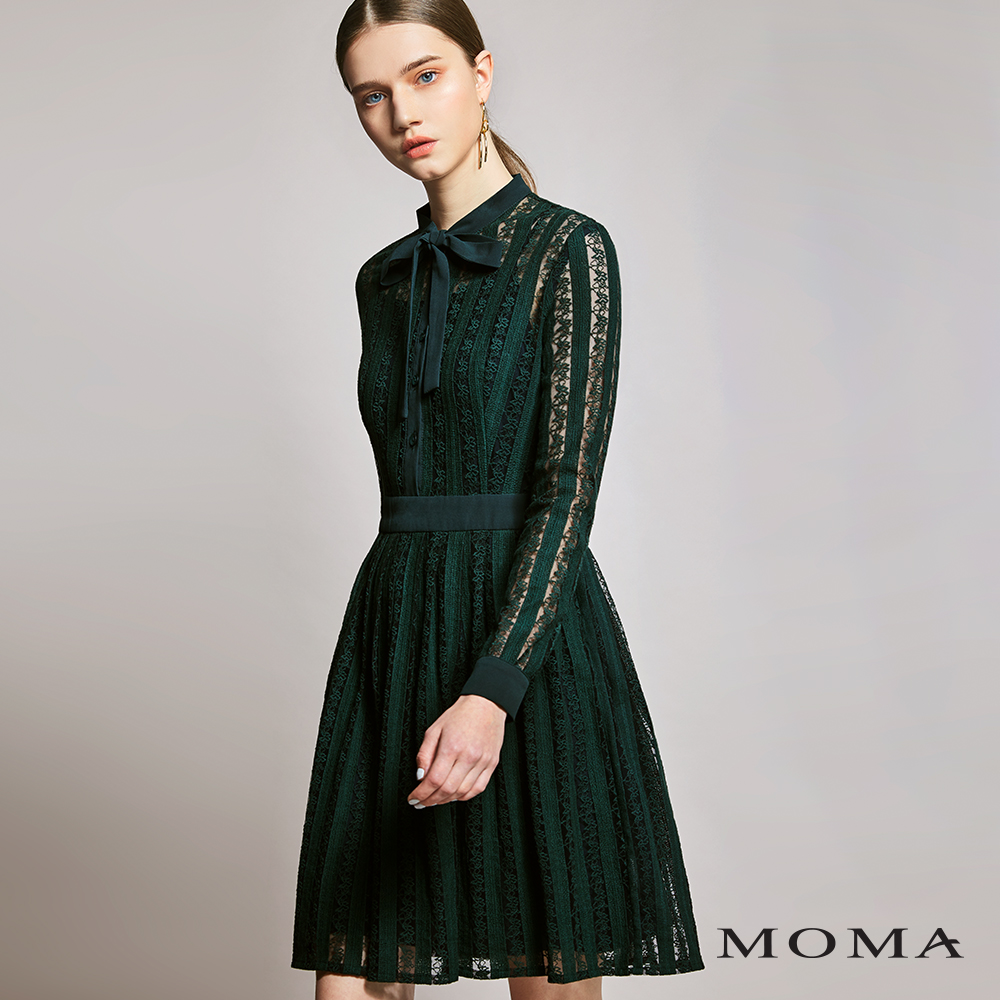 MOMA(01D059)直條蕾絲洋裝