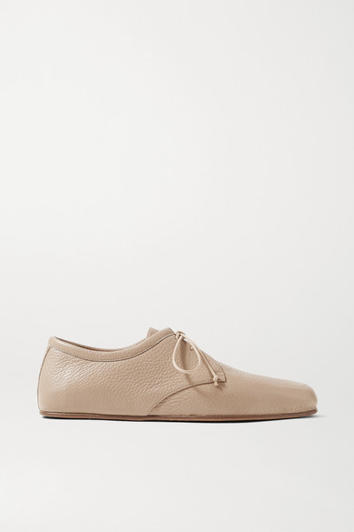 Gabriela Hearst - Luca 纹理皮革芭蕾平底鞋 - 沙色 - IT41