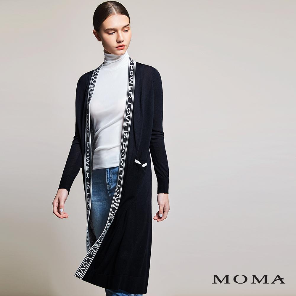 MOMA(01KJ04)字母潮流針織長外套